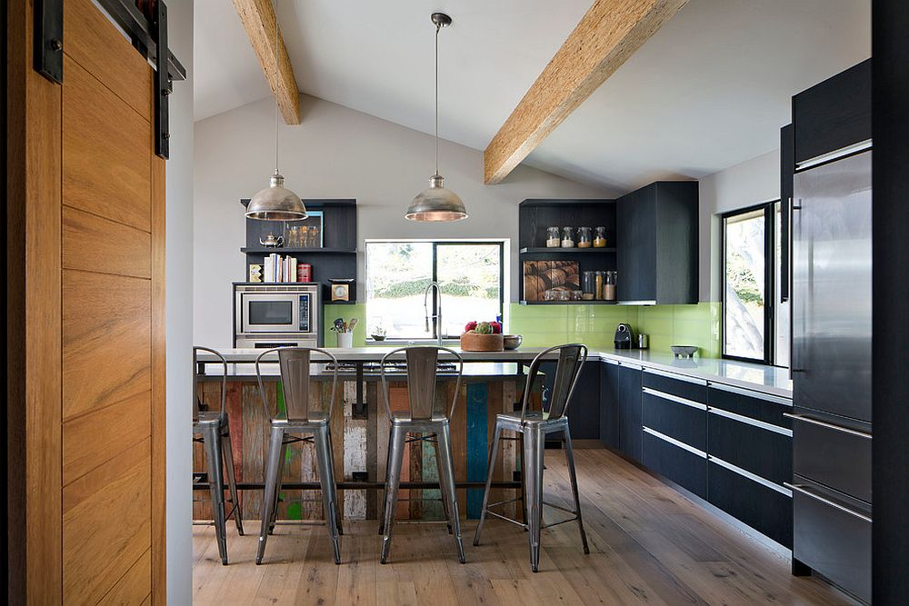 Create your own custom kitchen island with reclaimed wood [Design: KW Designs]
