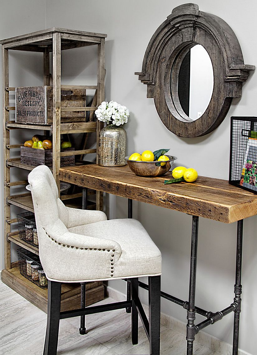 Custom reclaimed wood desk for small home office [From: Urban Wood Goods]
