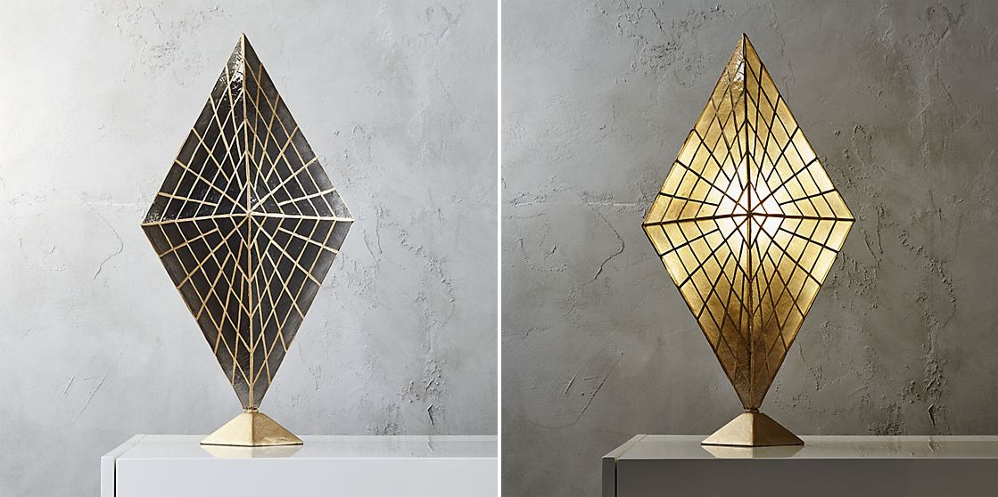 Diamond table lamp from CB2