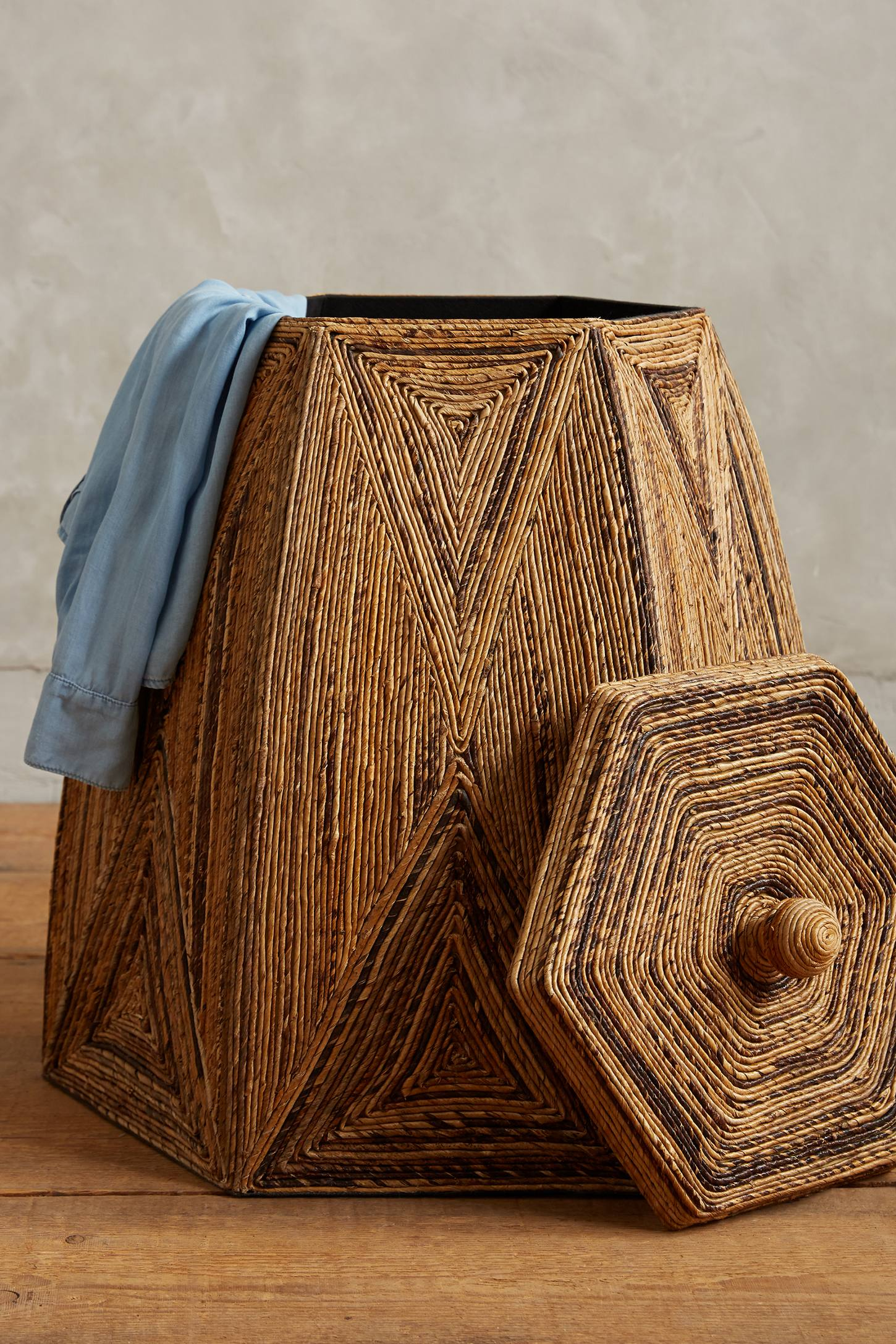 Earthy laundry basket from Anthropologie