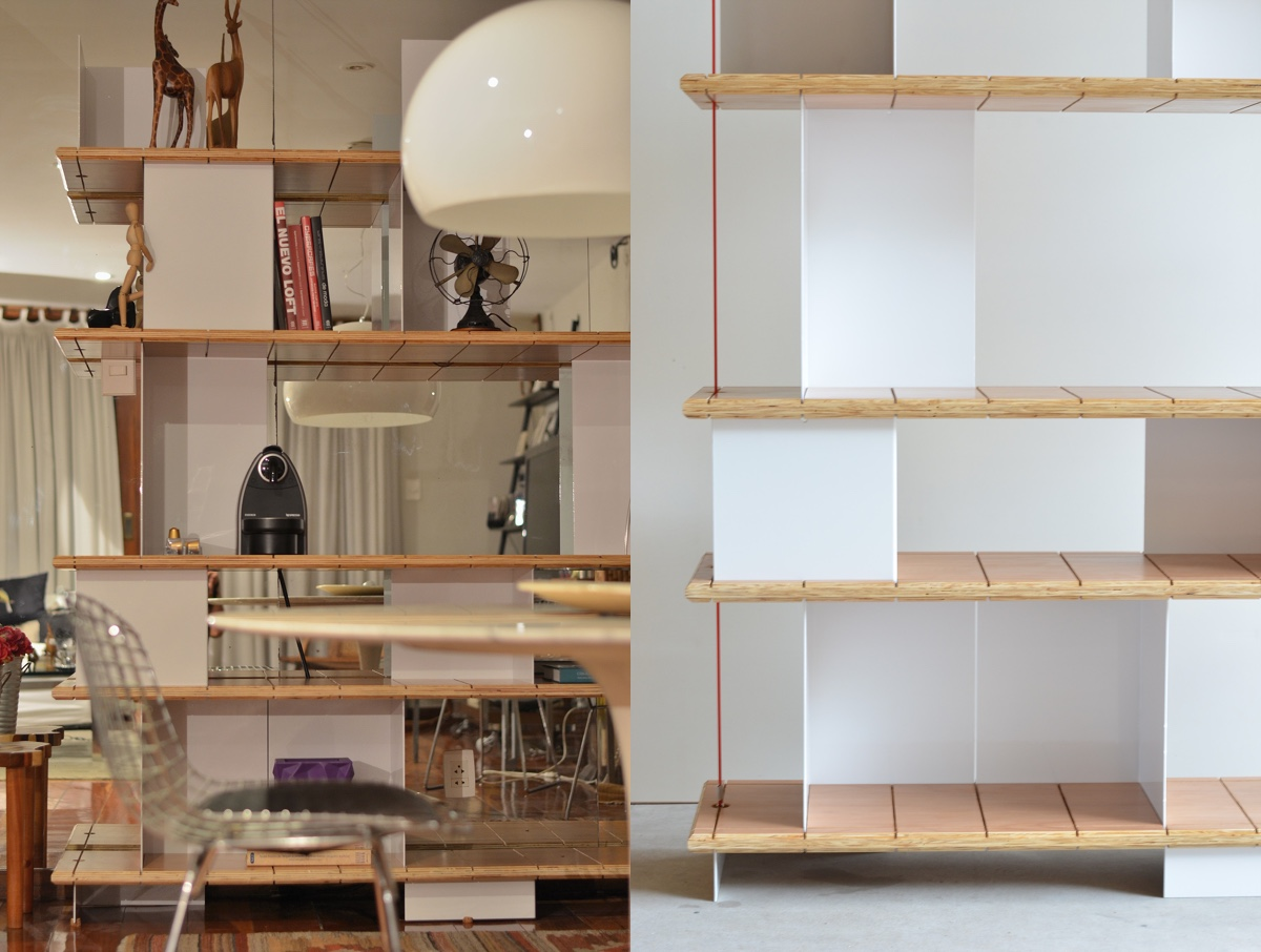 Estante EQUILÍBRIObyGustavo Bittencourt, is a simple and balanced shelving unit.