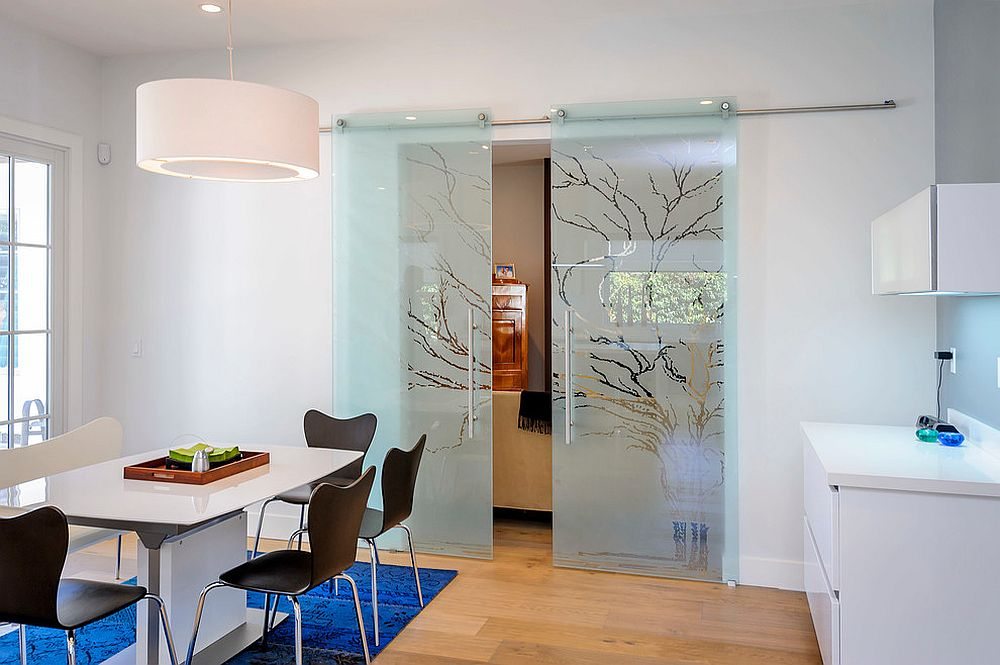 ... Etched Glass Sliding Doors Give The Classic Barn Style Door A Stunning  Modern Reinterpretation [From