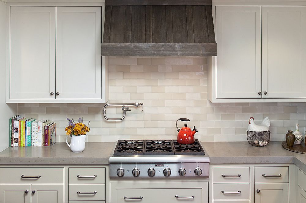 Exquisite kitchen hood crafted from reclaimed barn wood [Design; Artistic Designs for Living, Tineke Triggs]