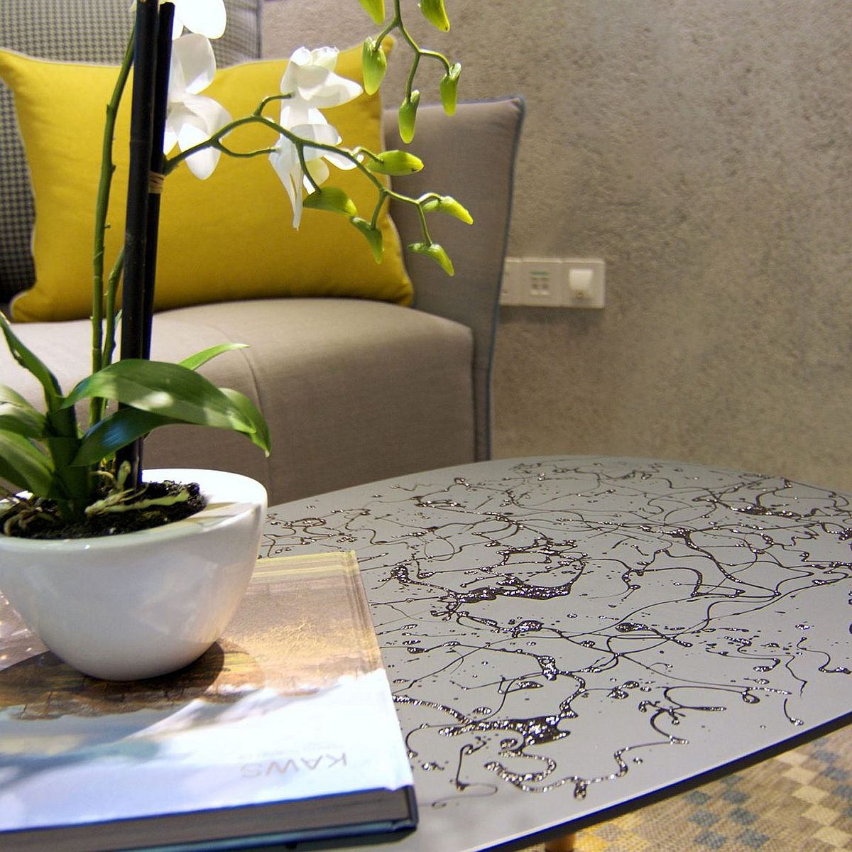 Fabulous coffee table adds personality to the quirky home in Singapore