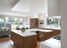 Fabulous kitchen island offers ample counter and storage space