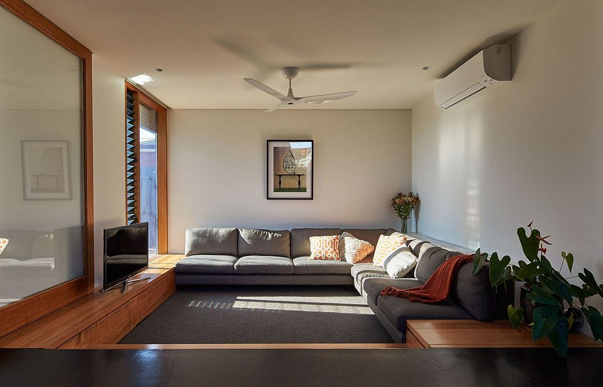 Family room filled with natural light