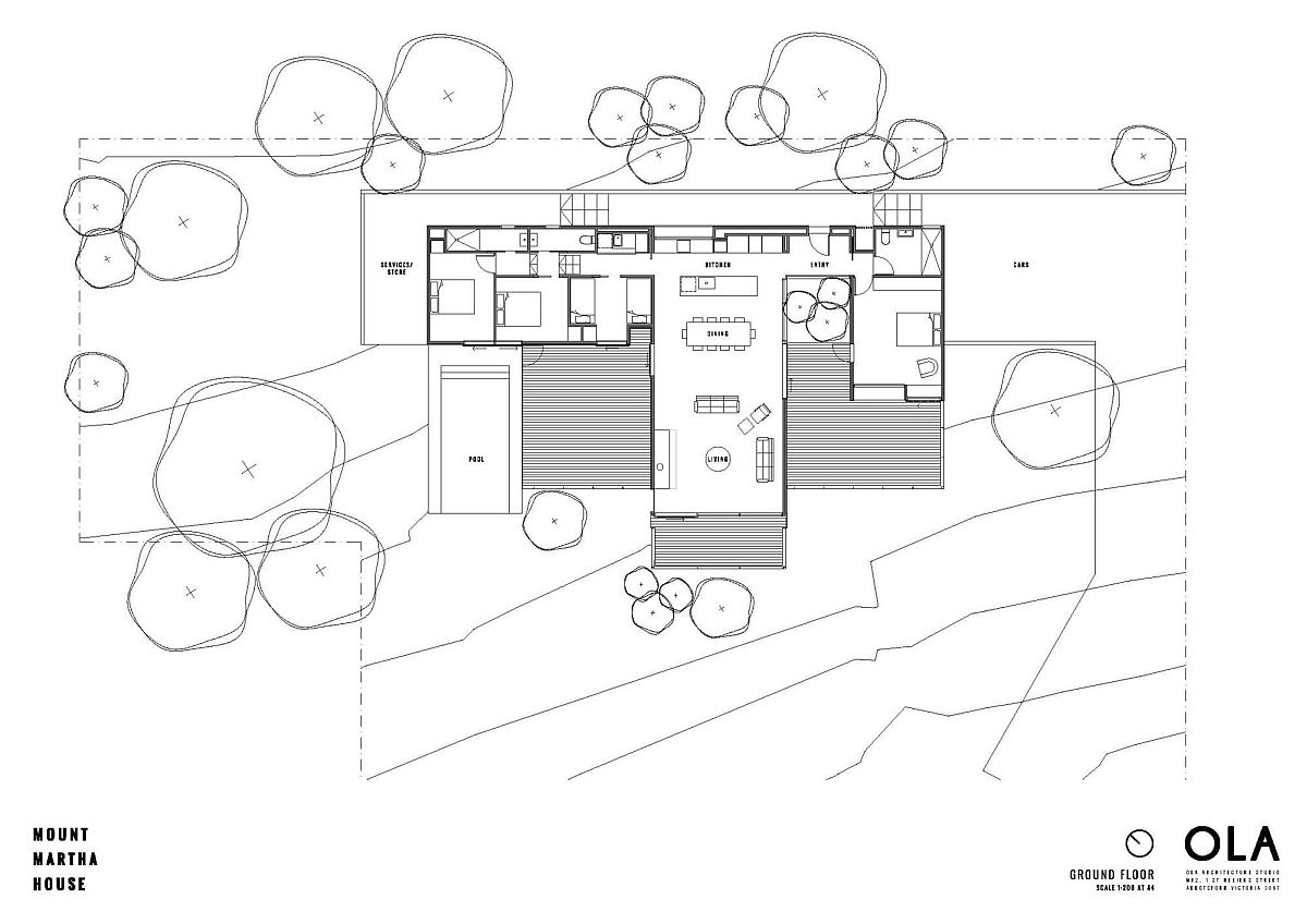 Floor plan of Mount Martha House in Australia