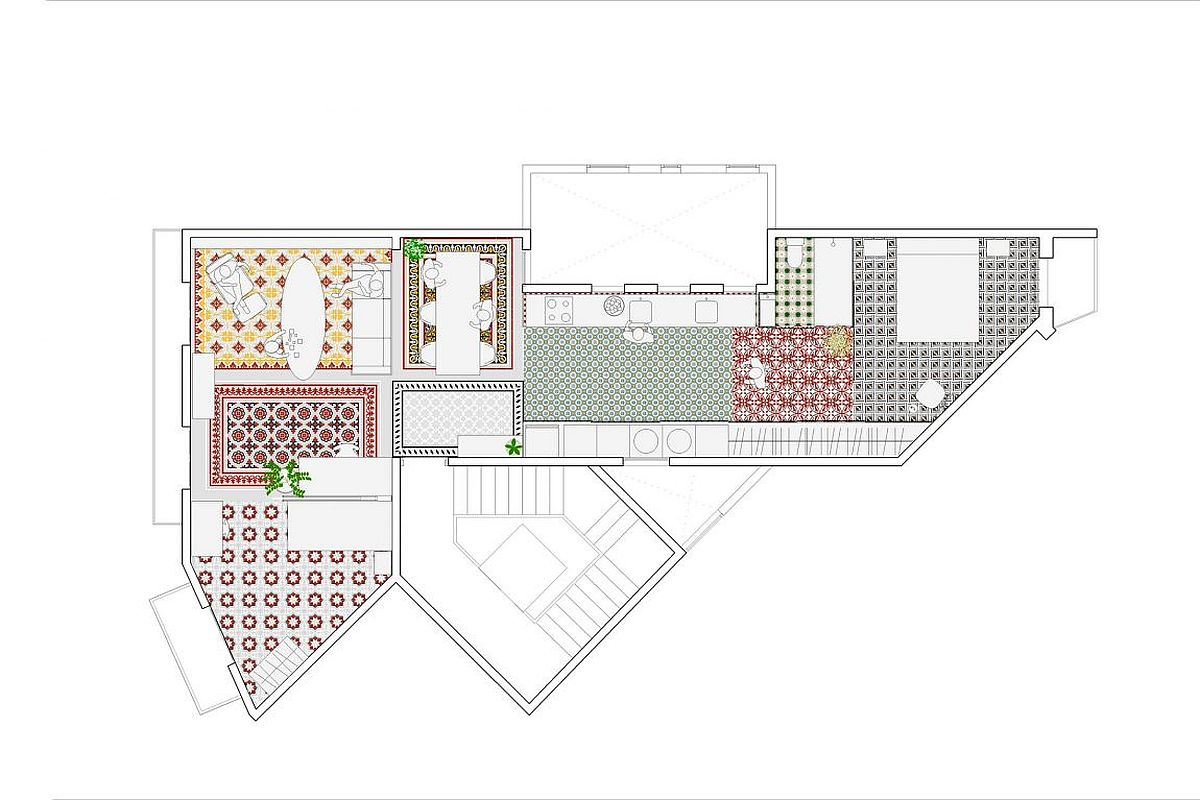 Floor plan of Reforma Vivenda Eixample Barcelona by NARCH