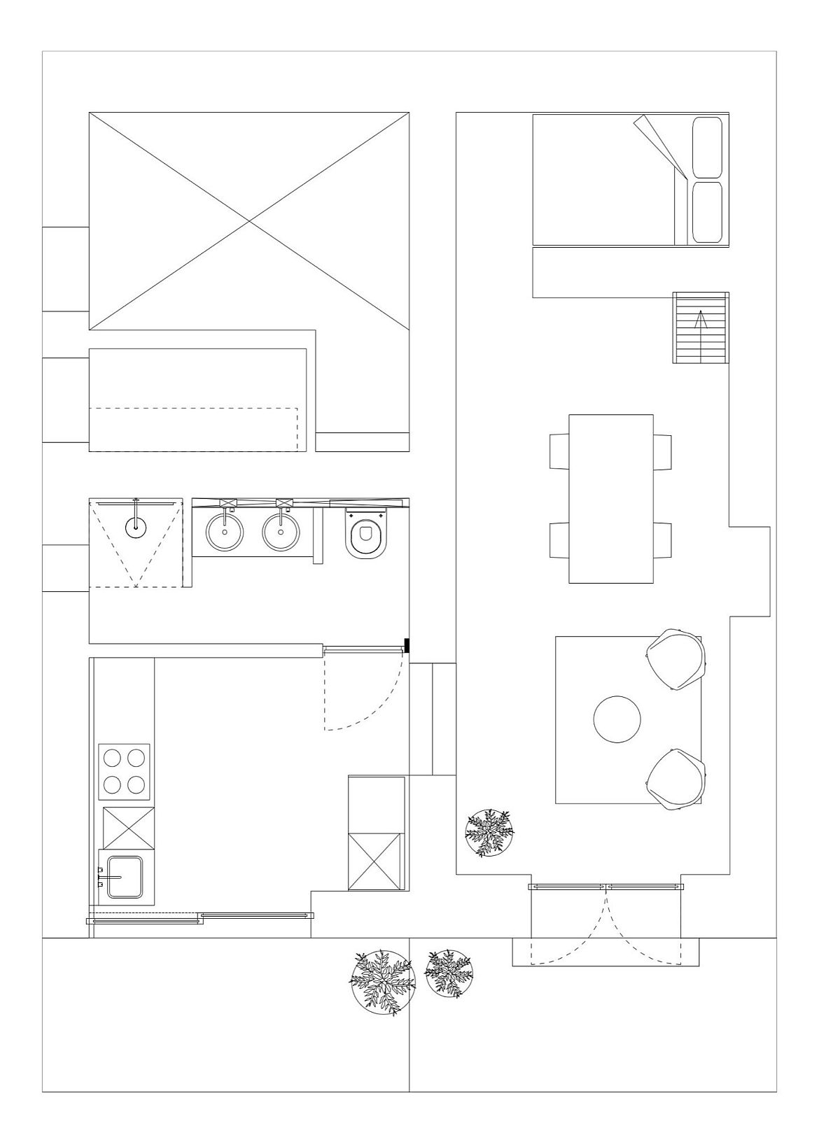 Floor plan of The Little House in the Campo