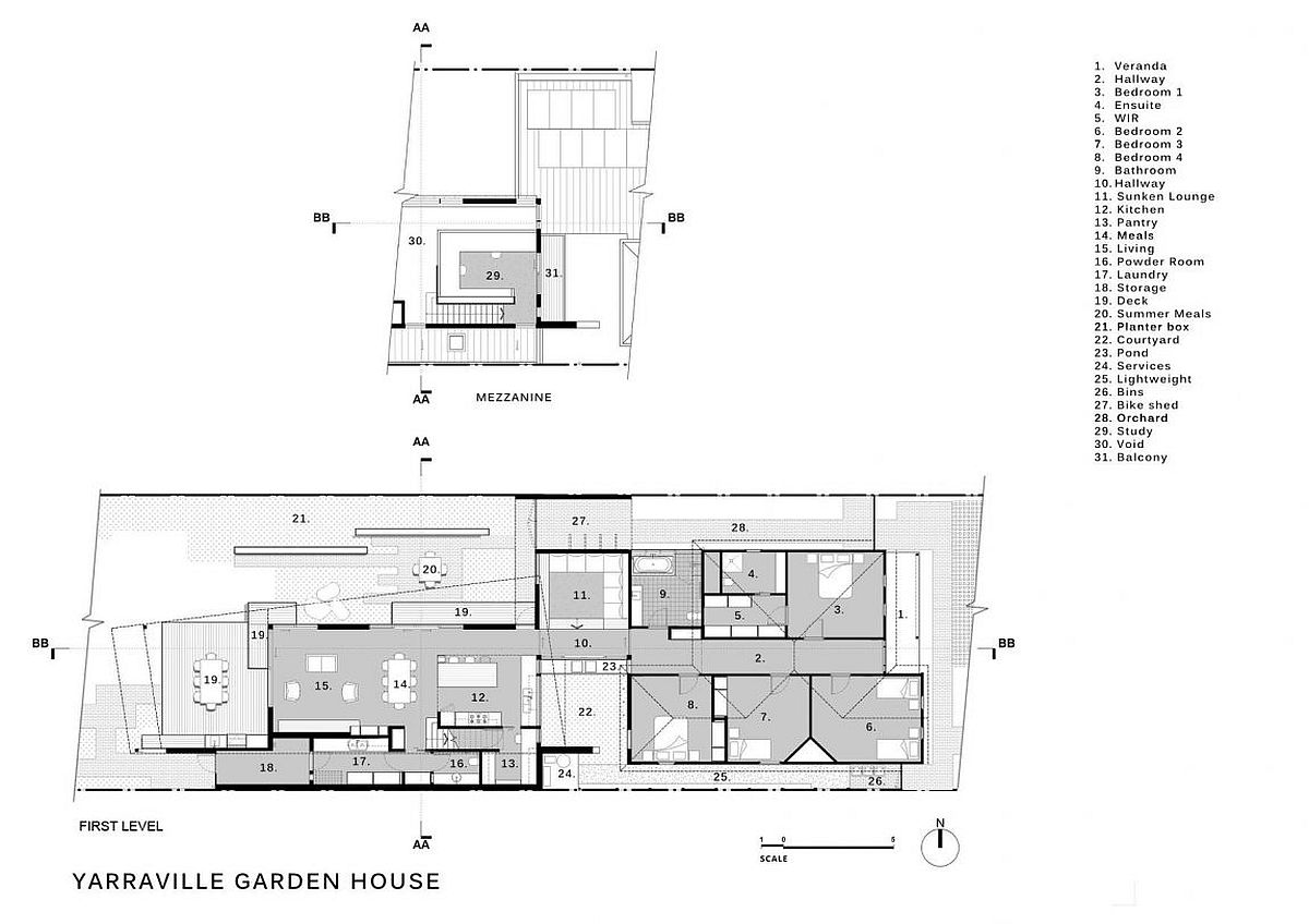 Floor plan of Yarraville Garden House by Guild Architects