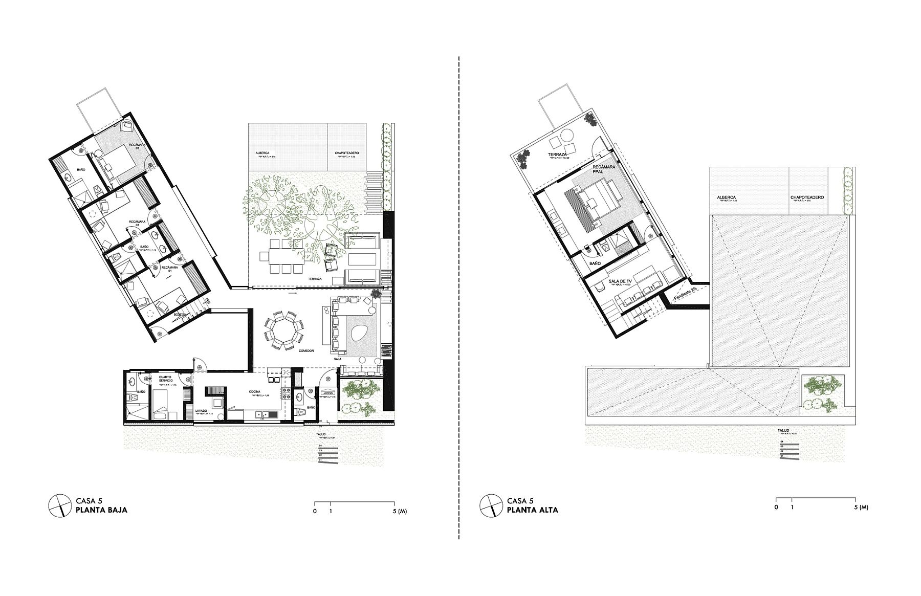 Floor plan of individual homes at Five Houses