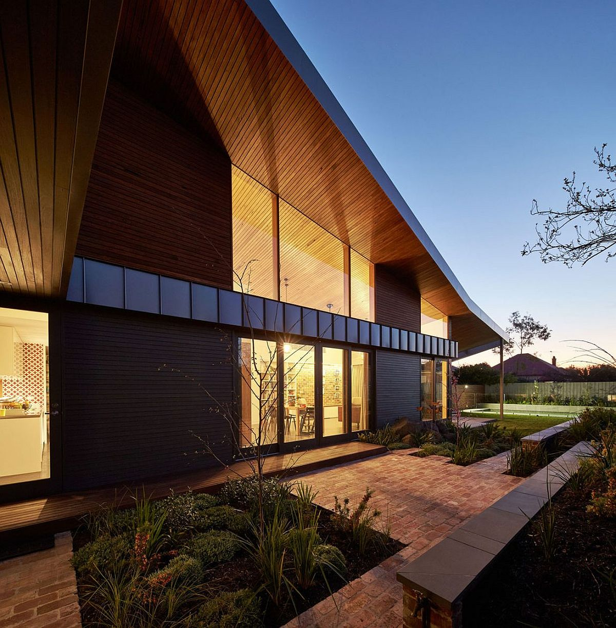 Garden becomes an essential part of the home design at modern Melbourne home