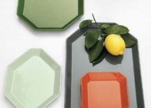 Geometric dinnerware in subtle tones