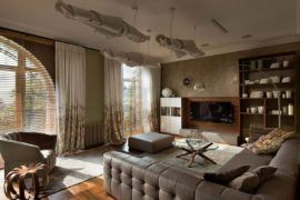 Chic and Feminine: Luxurious Two Level Apartment in Kiev