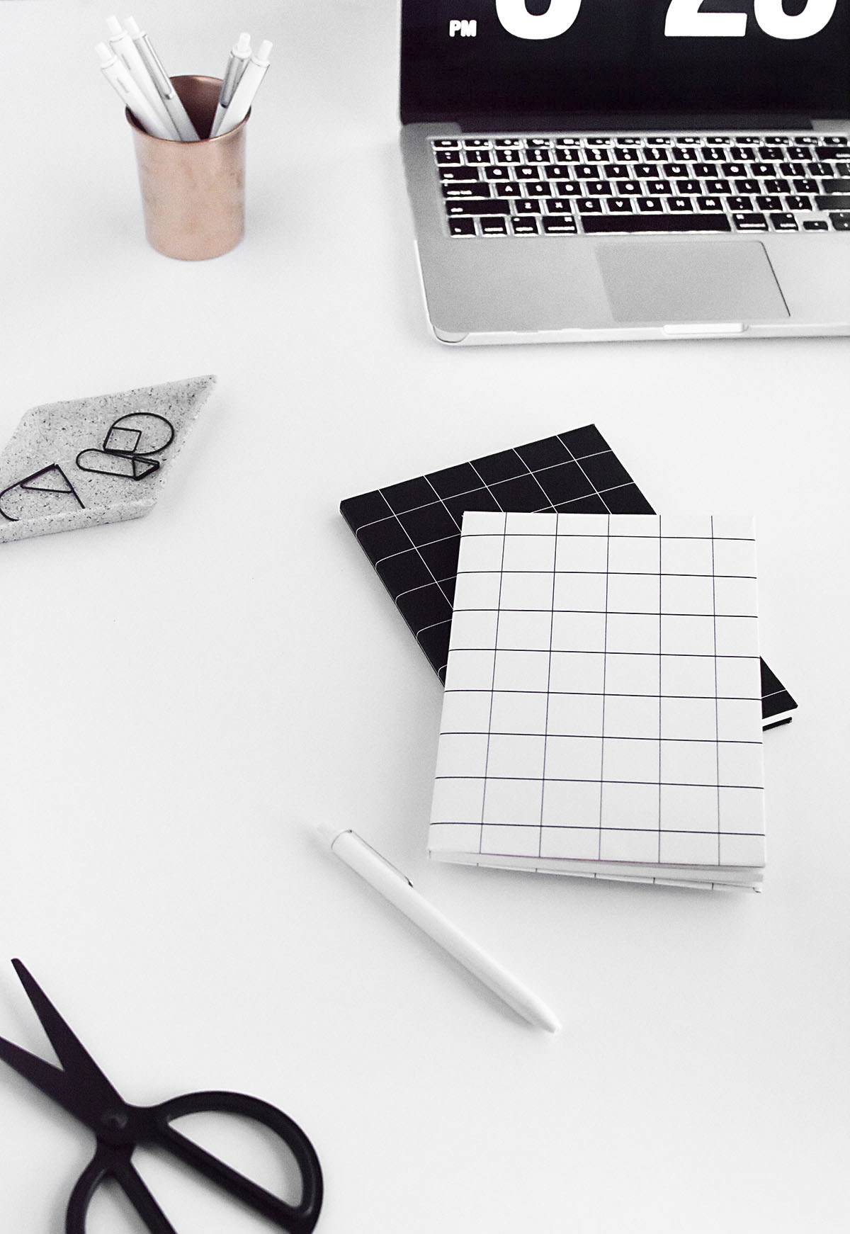 Grid notebook covers from Homey Oh My!
