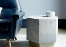 Hexagonal side table from West Elm