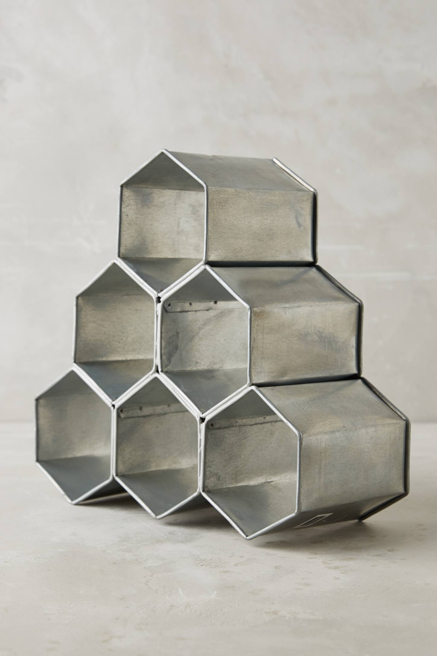Honeycomb wine holder from Anthropologie
