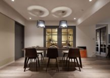Industrial modern style pendant lights for the dining room
