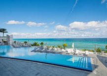 Infinity edge beach and ocean views at the Jade Beach luxury condo in South Florida