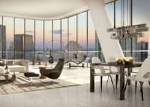 Interior of condos designed by David Rockwell at Brickell Heights