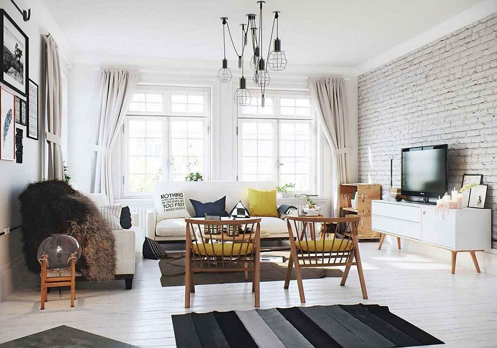 Large windows usher in ample natural light