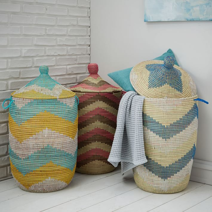 Large woven baskets from West Elm