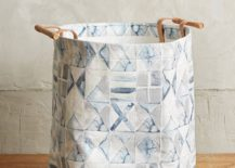 Laundry hamper from Anthropologie 217x155 20 Laundry Basket Designs That Make Household Chores Stylish