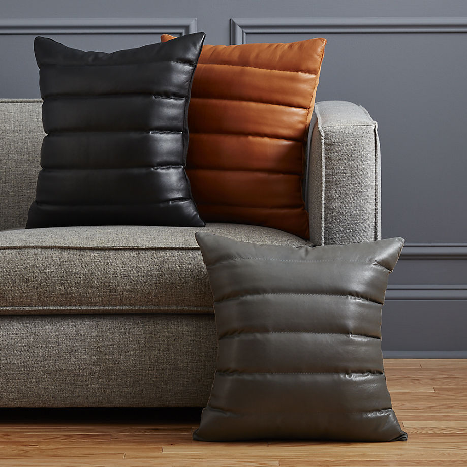 Leather pillows from CB2