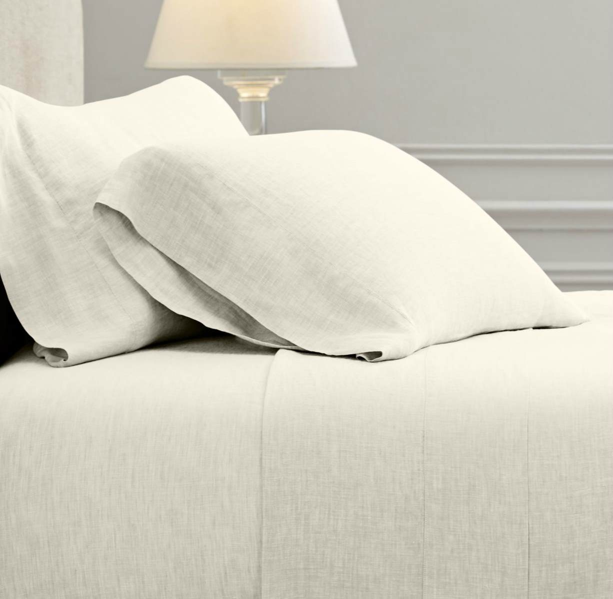 Linen bedding from Restoration Hardware
