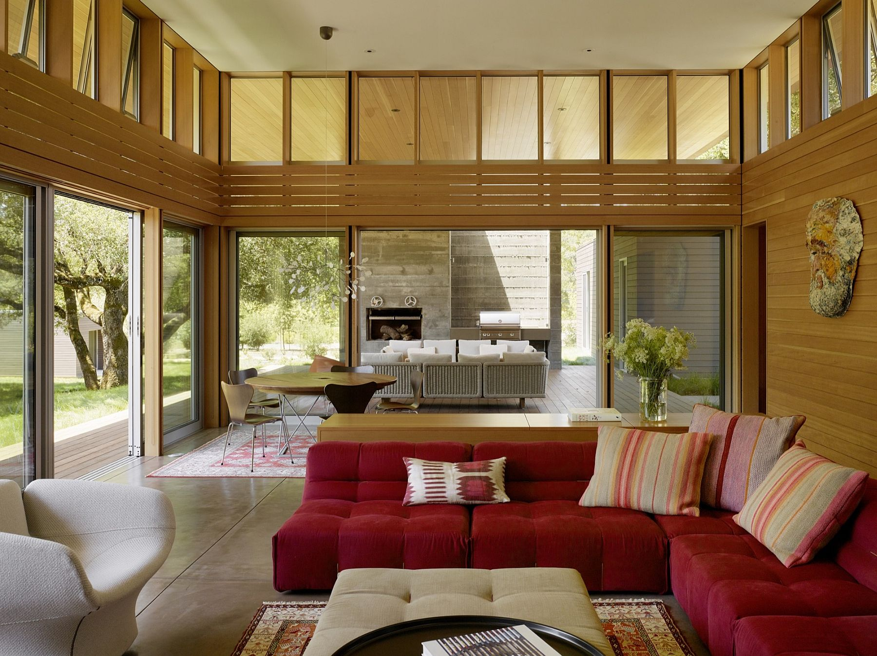 Living area of the Sonoma Residence interacts with the scenery outside