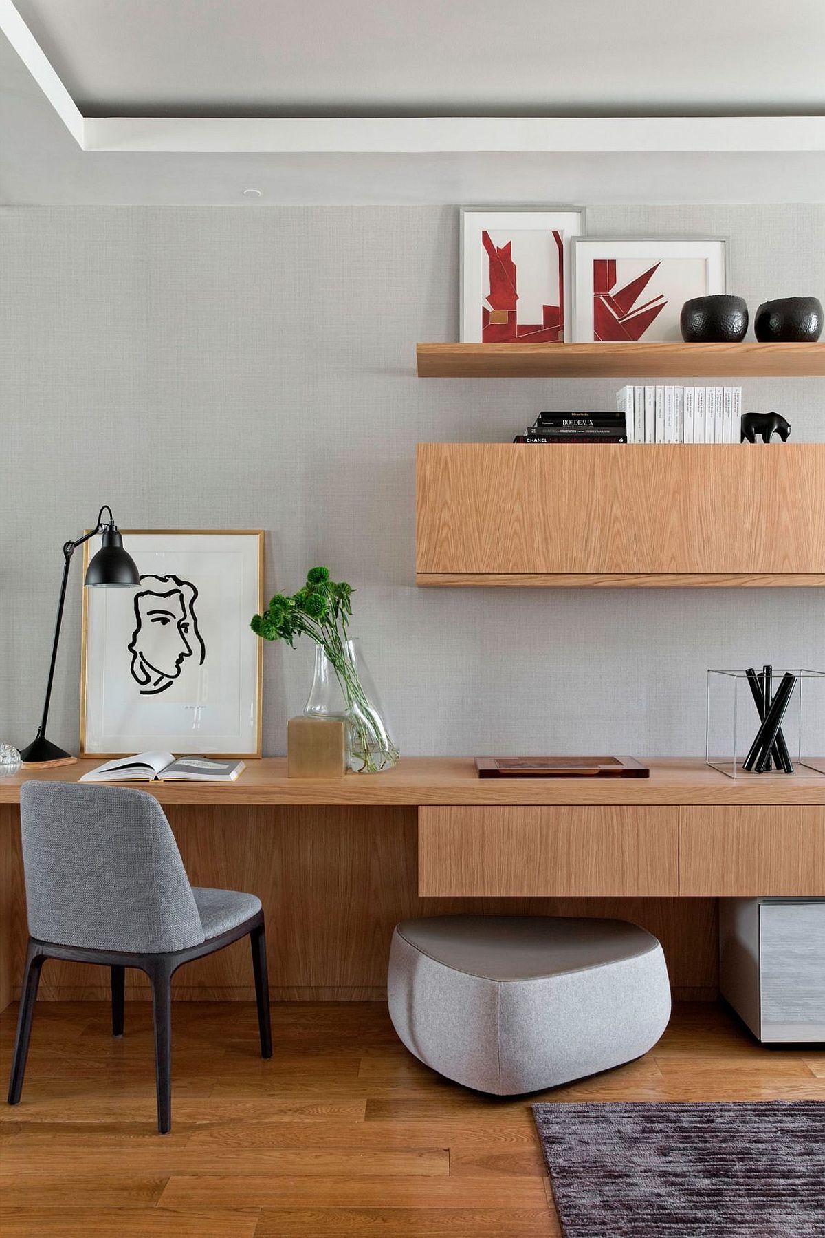 Living room home workstation idea