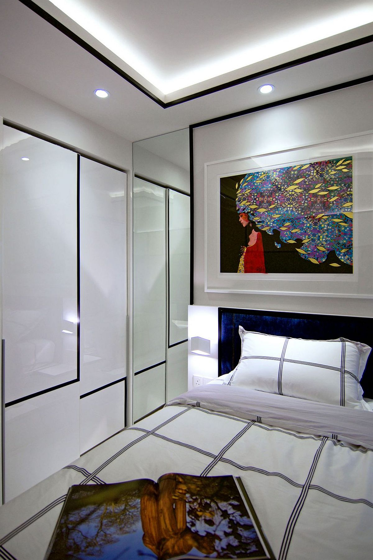 Lovers of De Stijl art will adore these fabulous bedrooms of the rejuvinated Singapore home