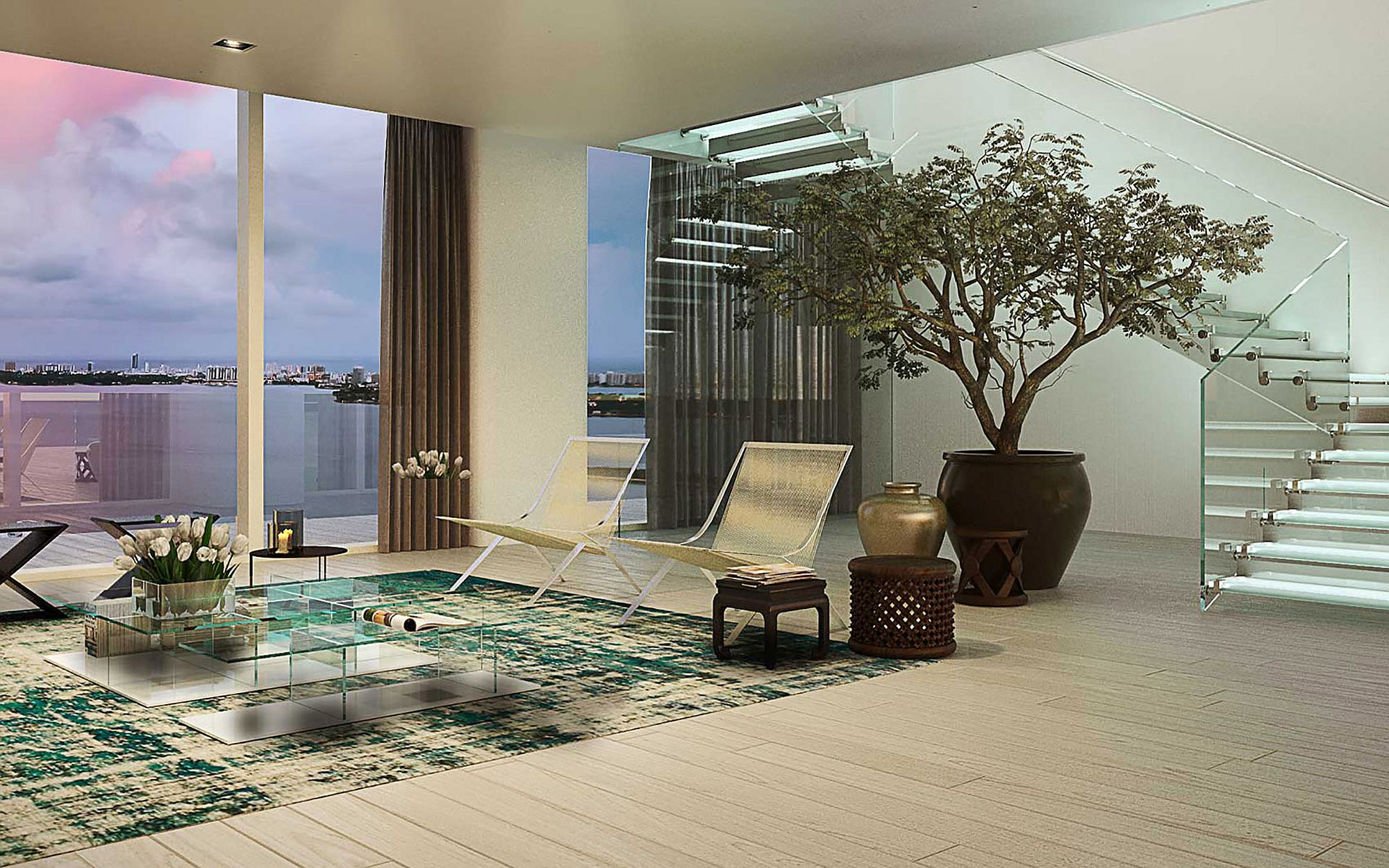 Luxurious interior of apartments at Auberge Miami