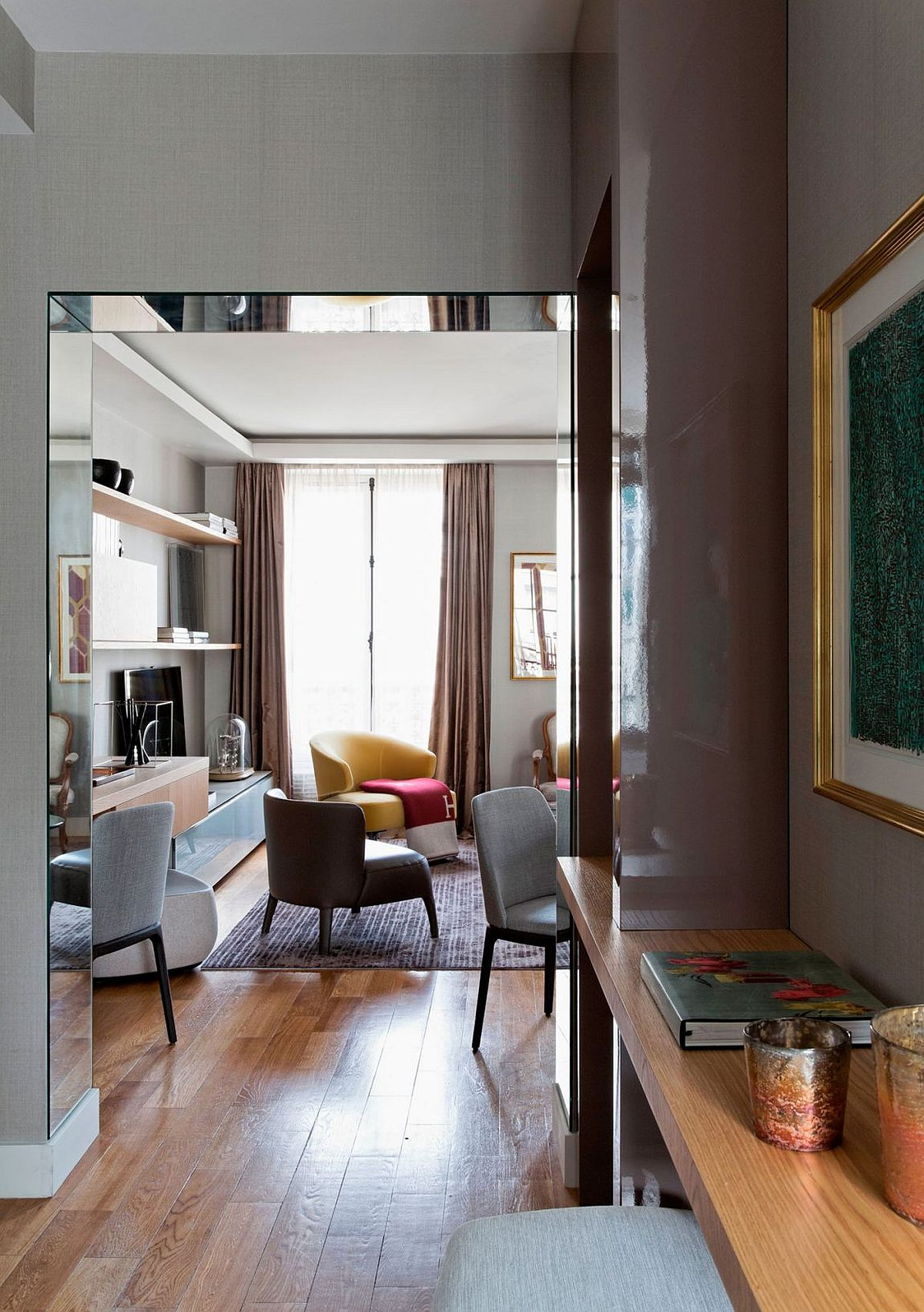 Modern Paris apartment built originally in 1856 with a retrofit and upgrade