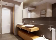 Modern bathroom with shades of taupe