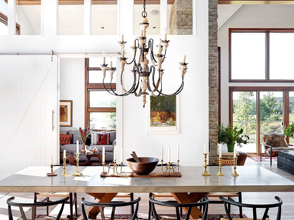Modern rustic dining space coupled with Scandinavian elements [From: elena del bucchia DESIGN / Martin Tessler]