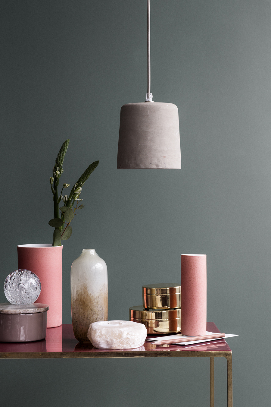 Moss meets dusty pink at Broste Copenhagen