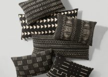 Mud cloth pillows from Restoration Hardware