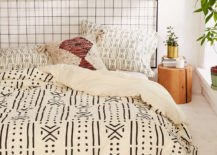 Mud cloth-style duvet cover from Urban Outfitters