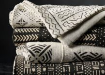Mud cloth throws from Restoration Hardware