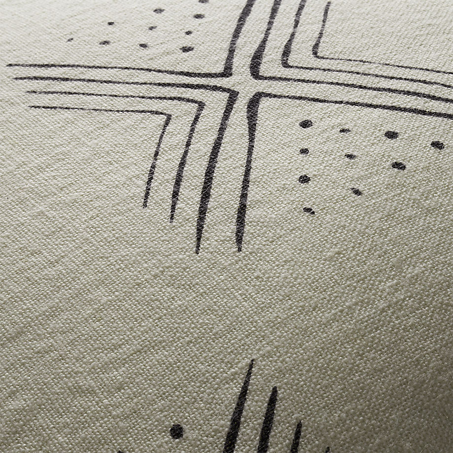 Mudcloth-inspired pillow fabric from CB2