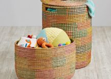 Multi-color hamper from The Land of Nod