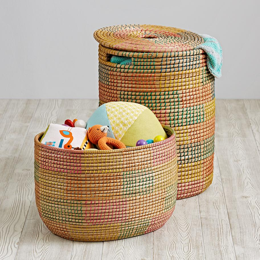 View In Gallery Multi Color Hamper From The Land Of Nod