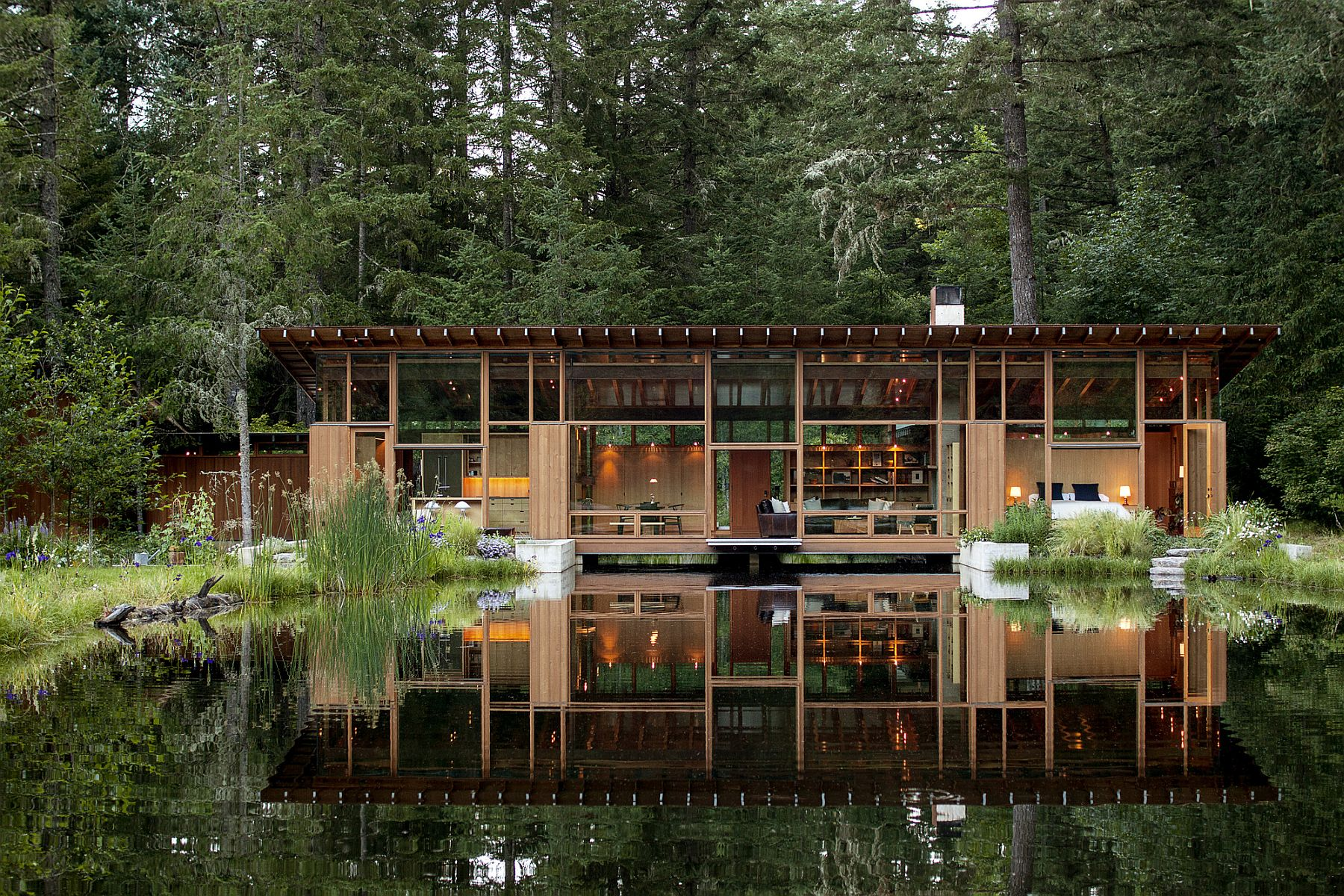 Newberg Residence by Cutler Anderson Architect is a haven for nature lovers