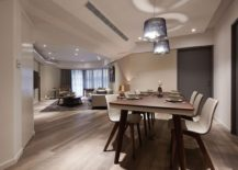 Open and refined interior of modern renovated apartment in Taipei