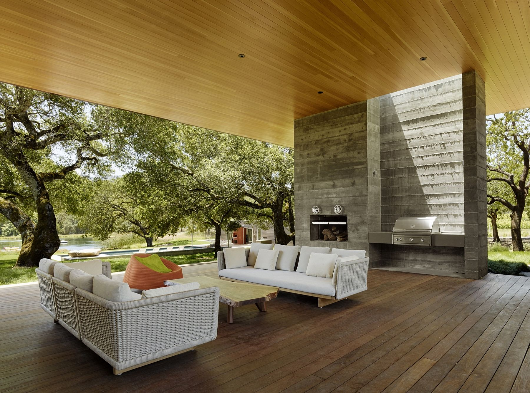 Summer outdoor living at its sustainable best sonoma Outdoor living areas images