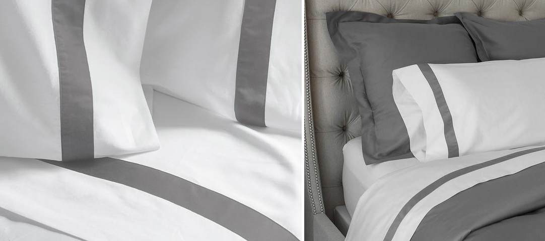 Organic banded sheets from Boll & Branch