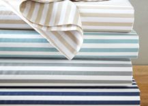 Organic striped sheets from West Elm