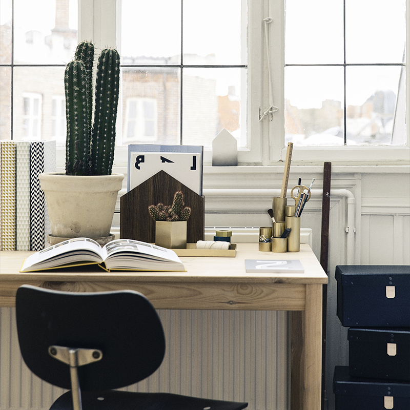 Organized modern desk
