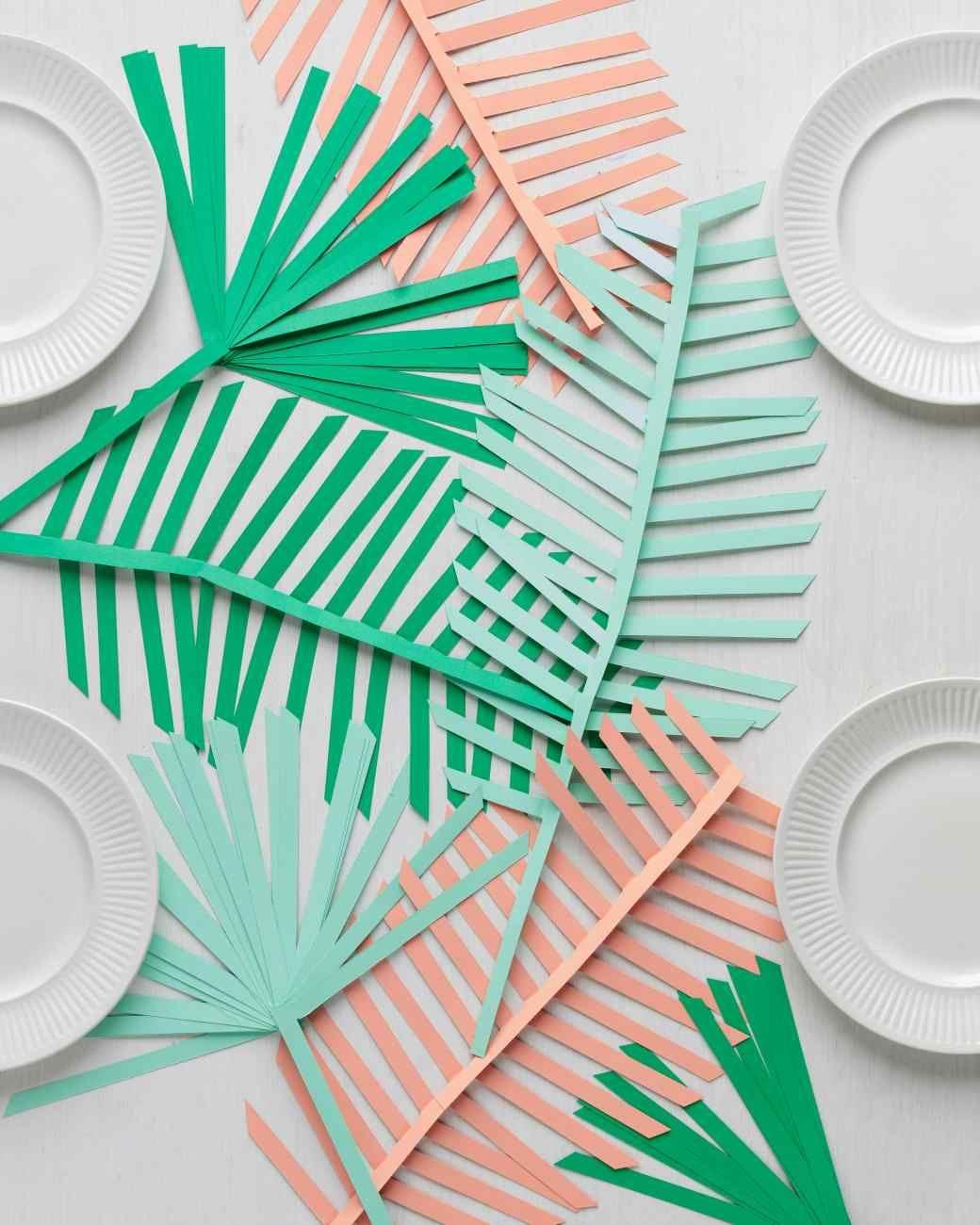 Palm leaf table runner from Martha Stewart